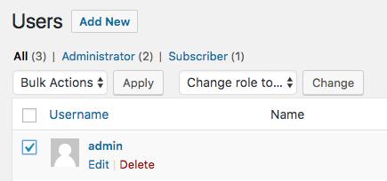 WordPress Admin Username