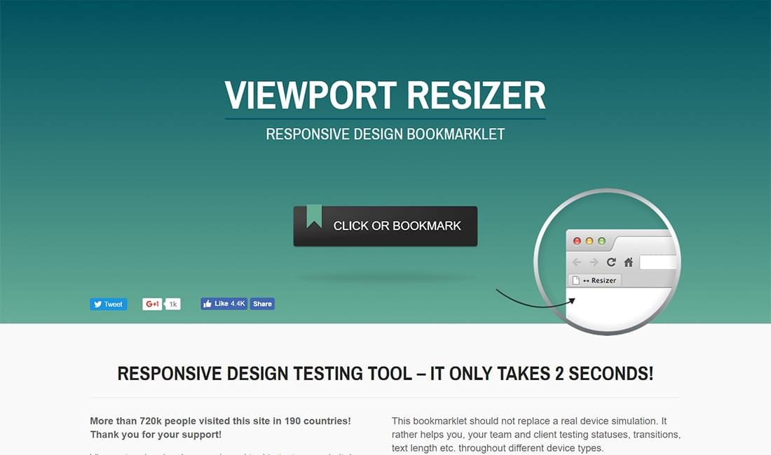 browser viewport resizer