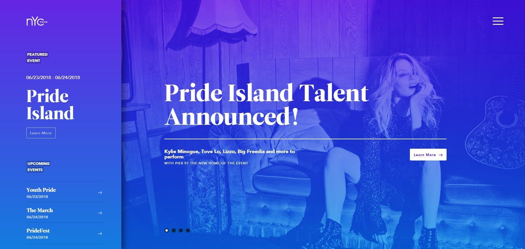 Pride Gradient image website
