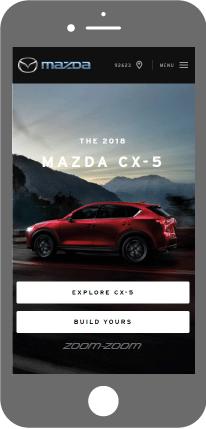Mobile first - Mazda Canada Website