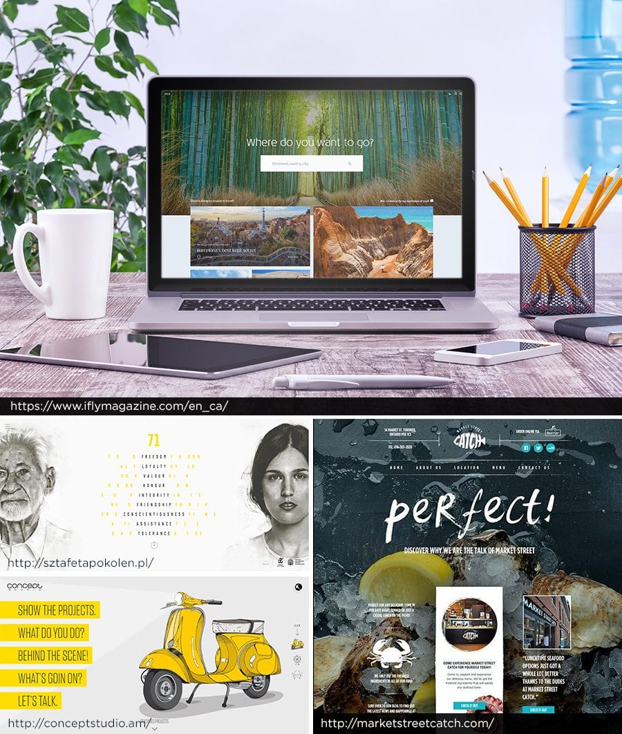 Organic Website Examples