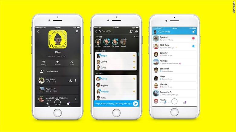 Snapchat Re-design