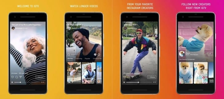 Examples of Instagram TV IGTV