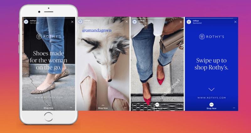 Instagram Stories Ads example