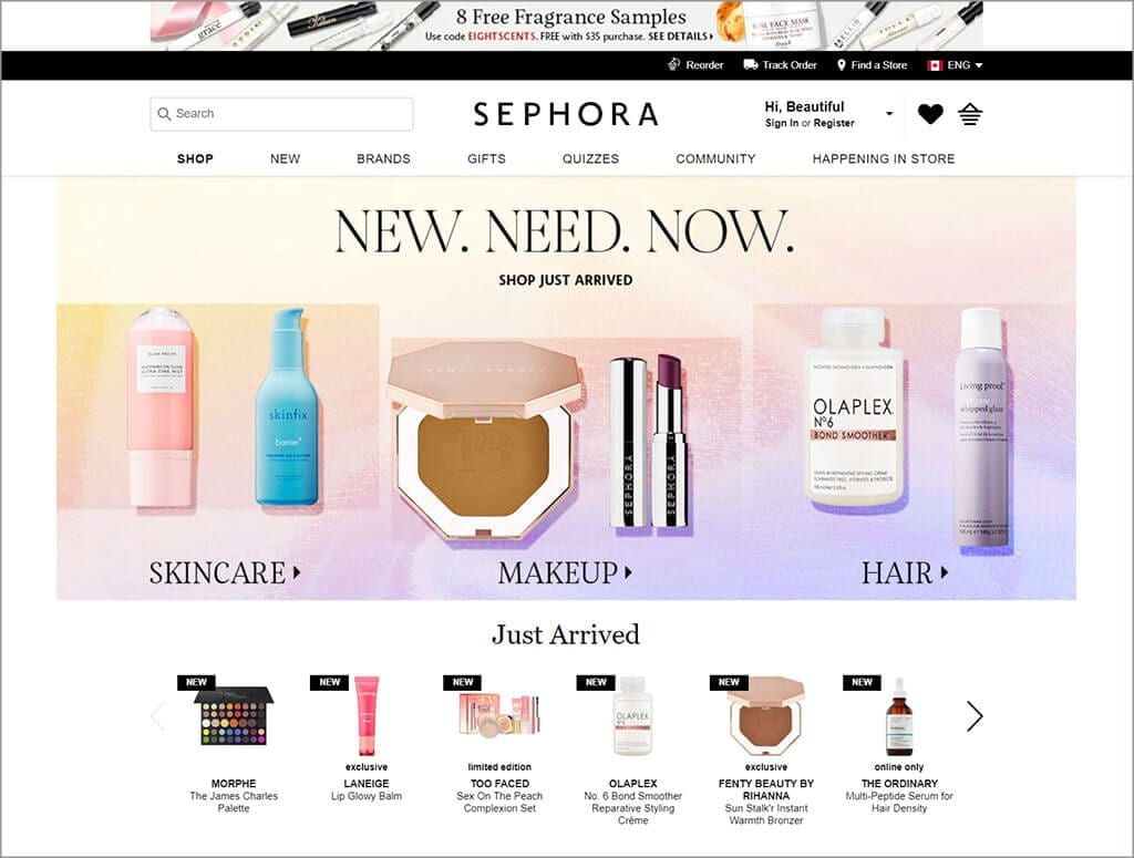 Sephora's Accessible Website