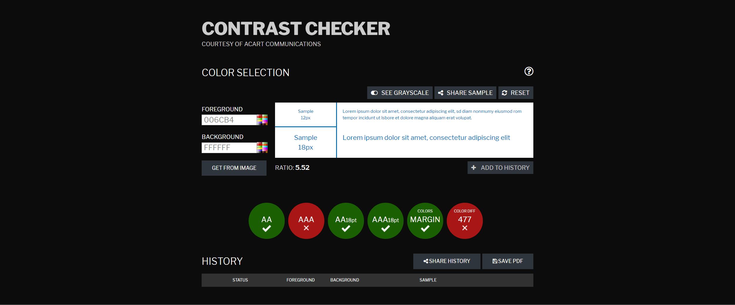 Contrast Checker Website